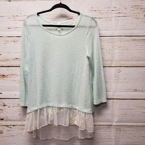 Orange Creek Sweater with Lace